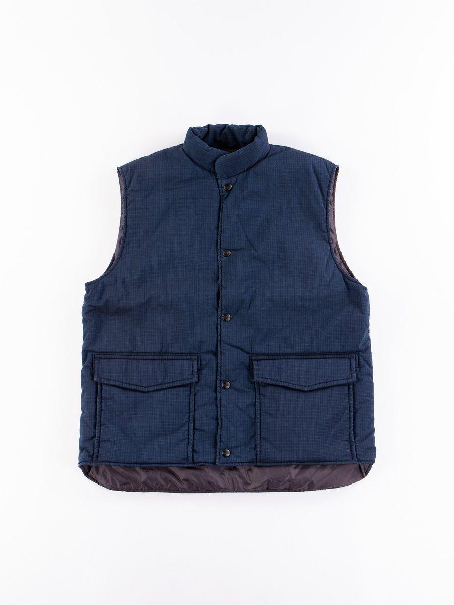 Indigo Cotton/Nylon Ripstop Vest