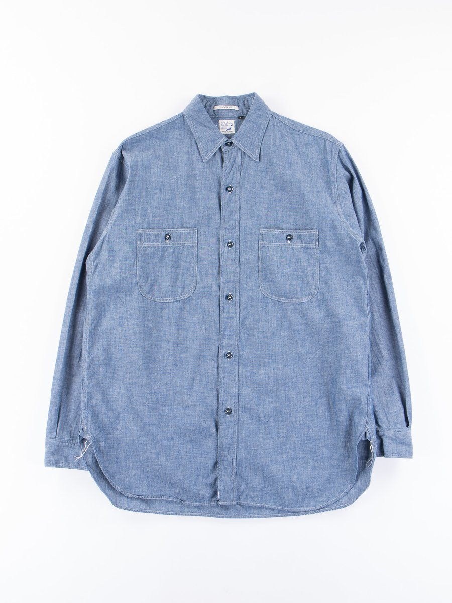 Blue Chambray Vintage Fit Work Shirt