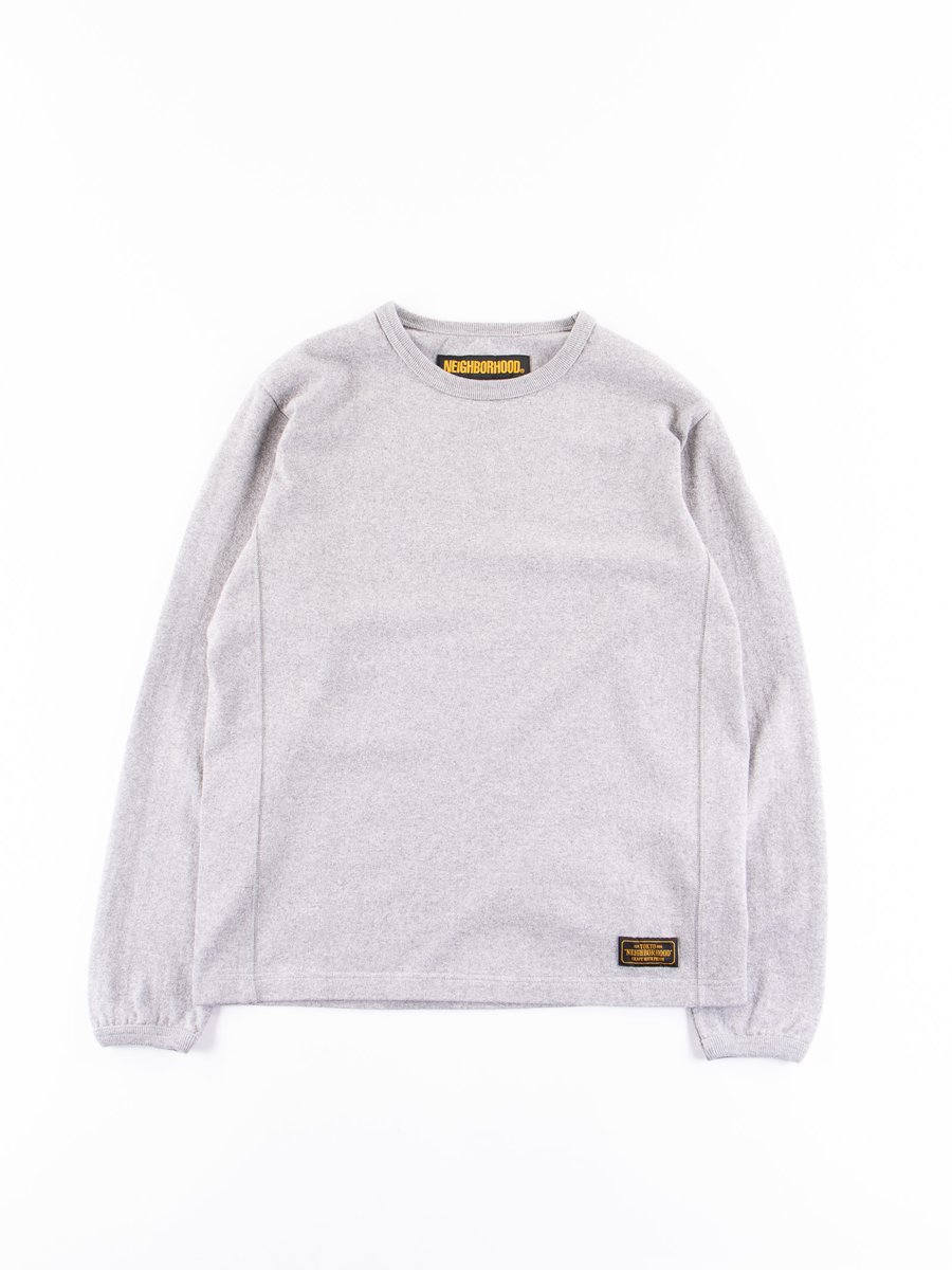 Grey Meek Long Sleeve C–Crew Shirt
