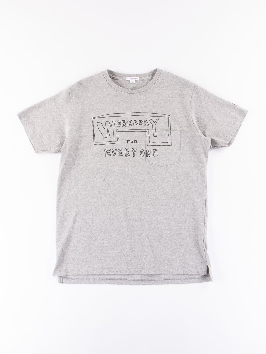 Grey Everyone Crossover Crew Pocket Tee