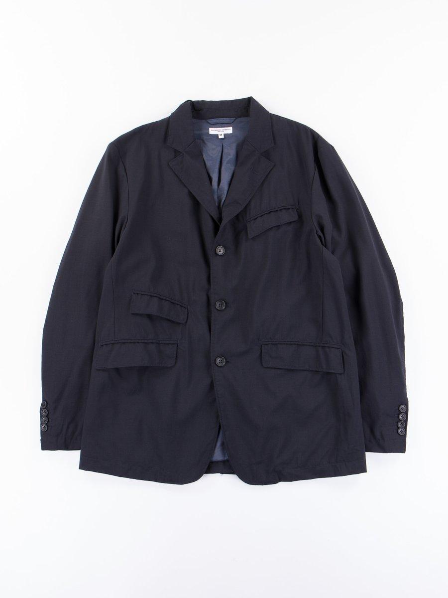 Dark Navy Tropical Wool Cordura Andover Jacket