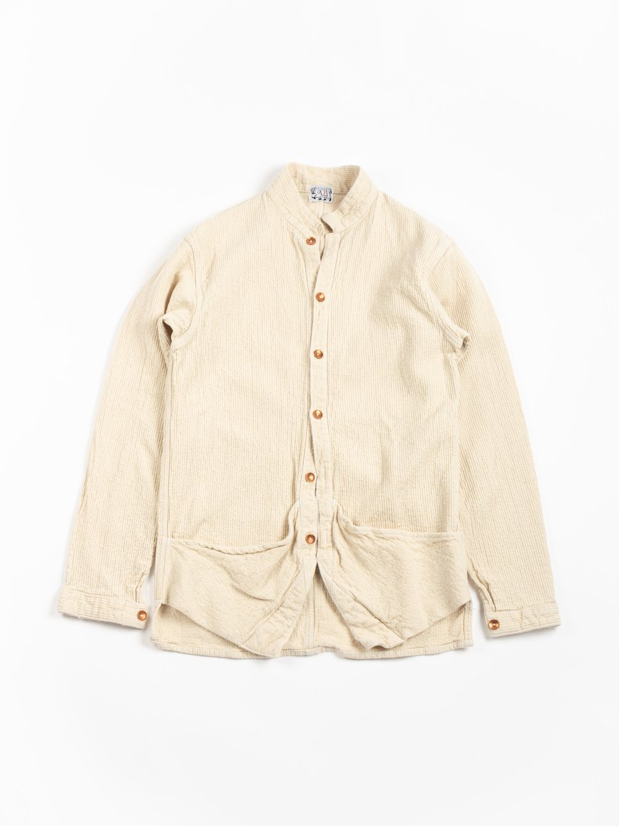 TYPE 461 BASTE POCKET SHIRT COTTON CHAIN CORD RINSE WASHED