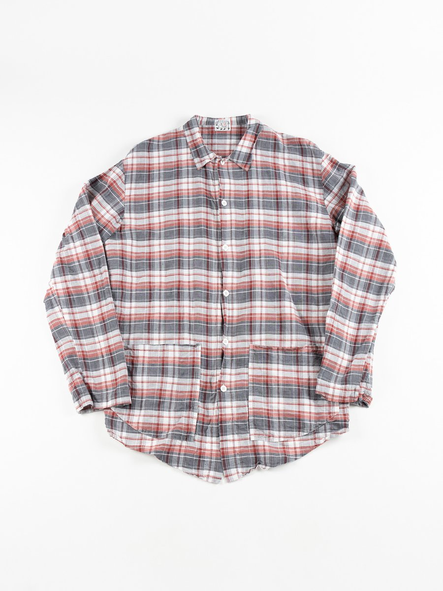 WEAVER STOCK LONG SLEEVED HIGH BACK SHIRT TRICOLORE CHECK