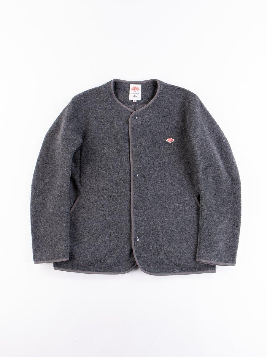Heather Grey No Collar Fleece Jacket