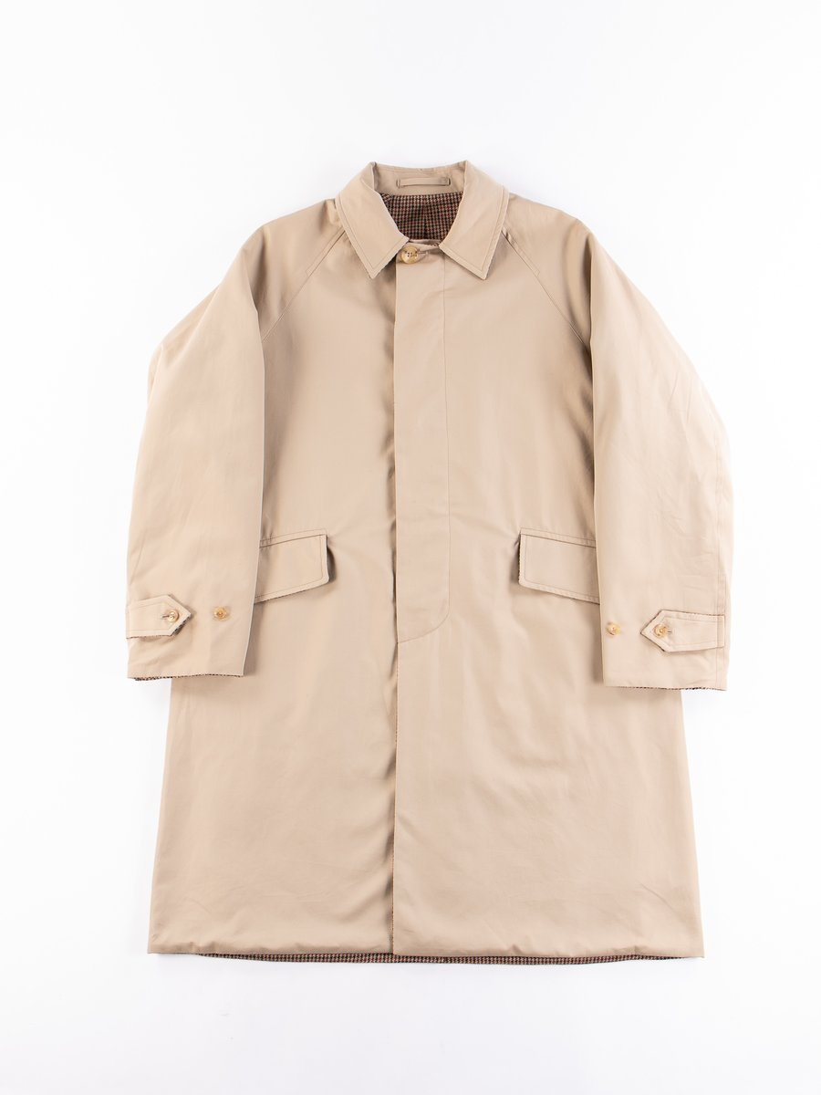 Light Khaki/Gunclub Reversible Balmacaan Coat