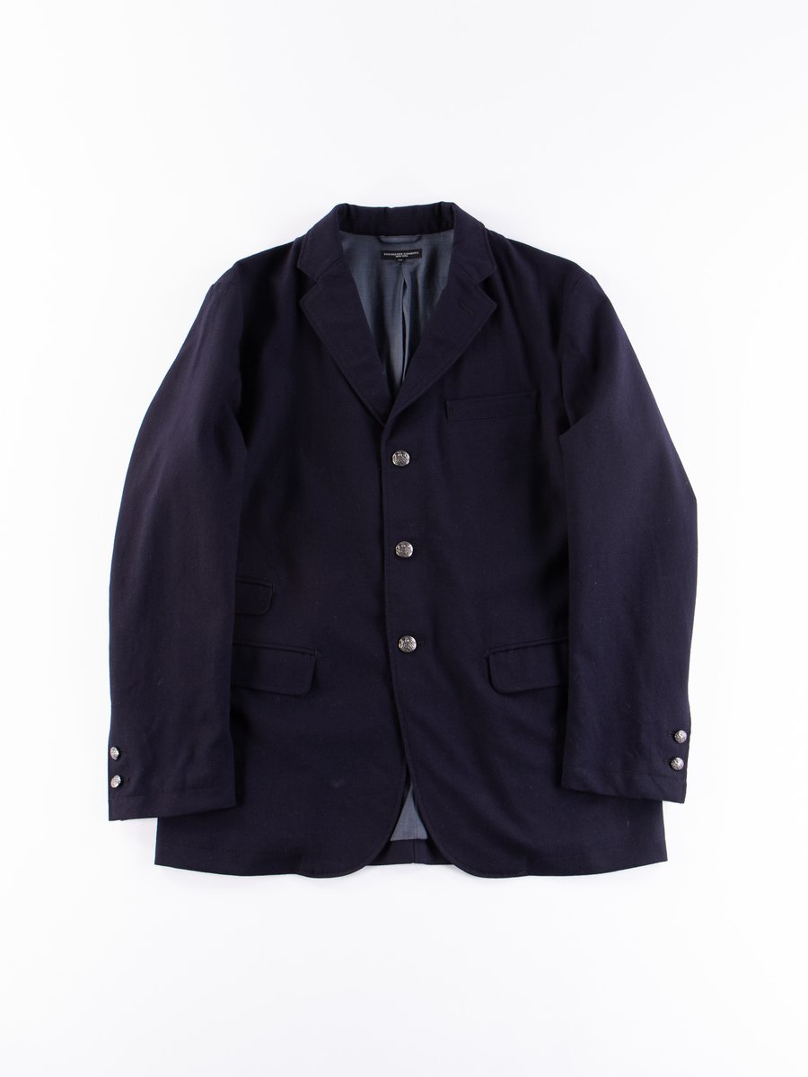 Dark Navy Wool Uniform Serge Lawrence Jacket