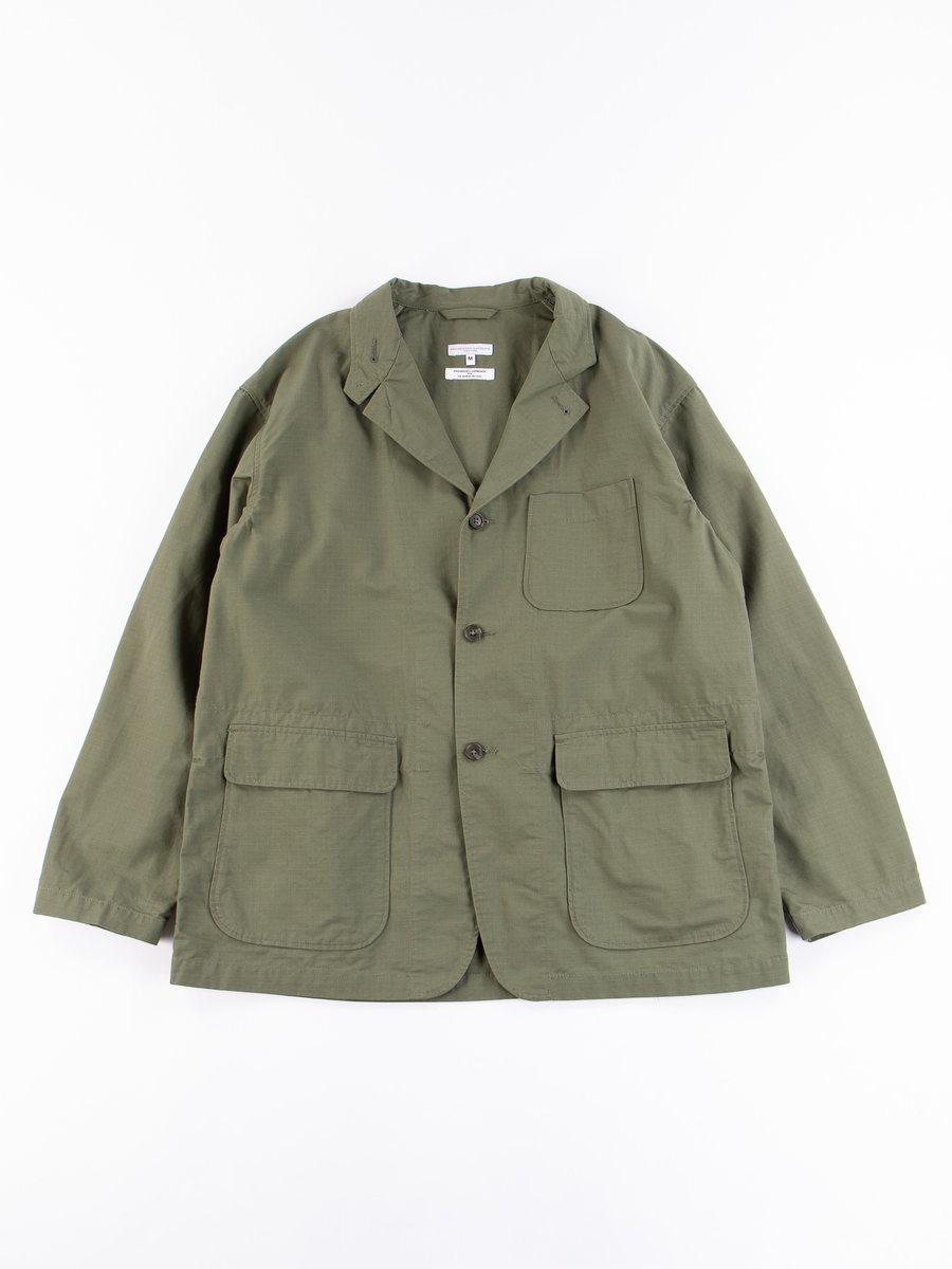 Olive Cotton Ripstop Loiter Jacket