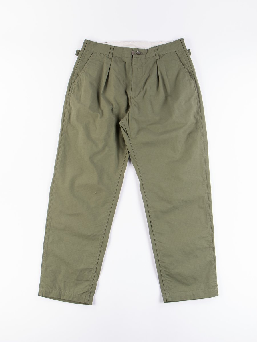 Olive Cotton Ripstop Ground Pant