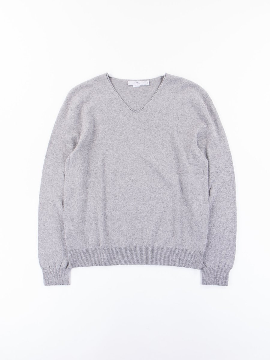 City V–Neck Knit Sweater