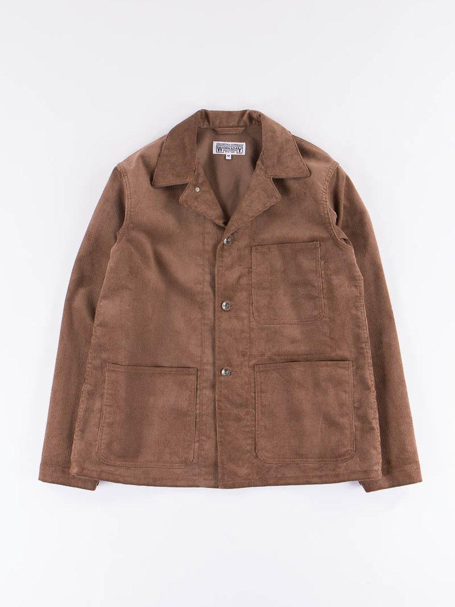 Khaki 14W Corduroy Utility Jacket