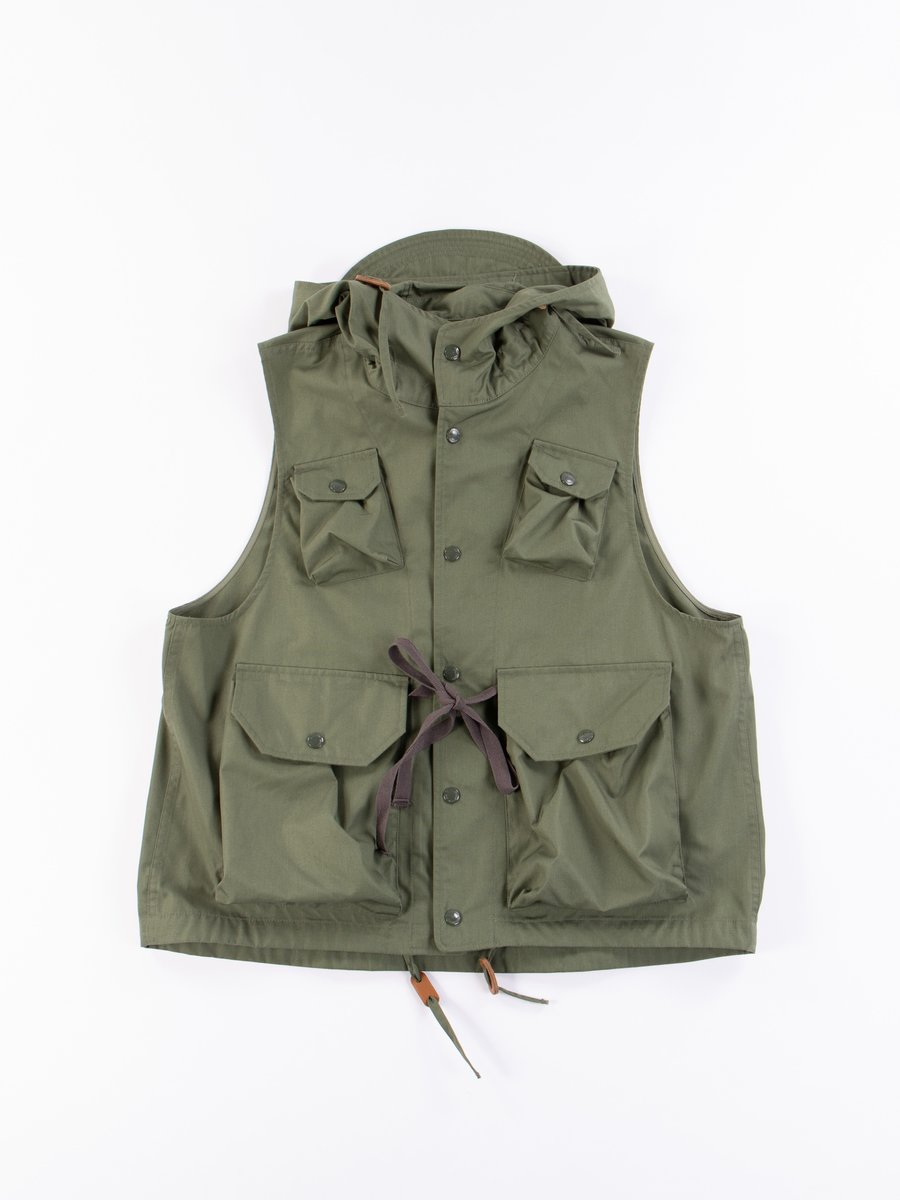 Olive PC Poplin Field Vest