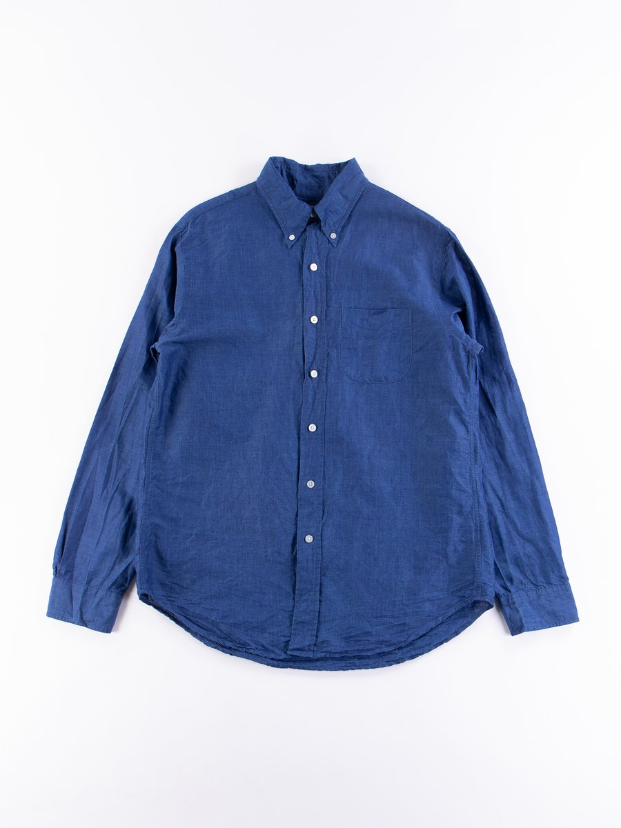 Indigo Linen/Cotton Chambray Campus BD Shirt