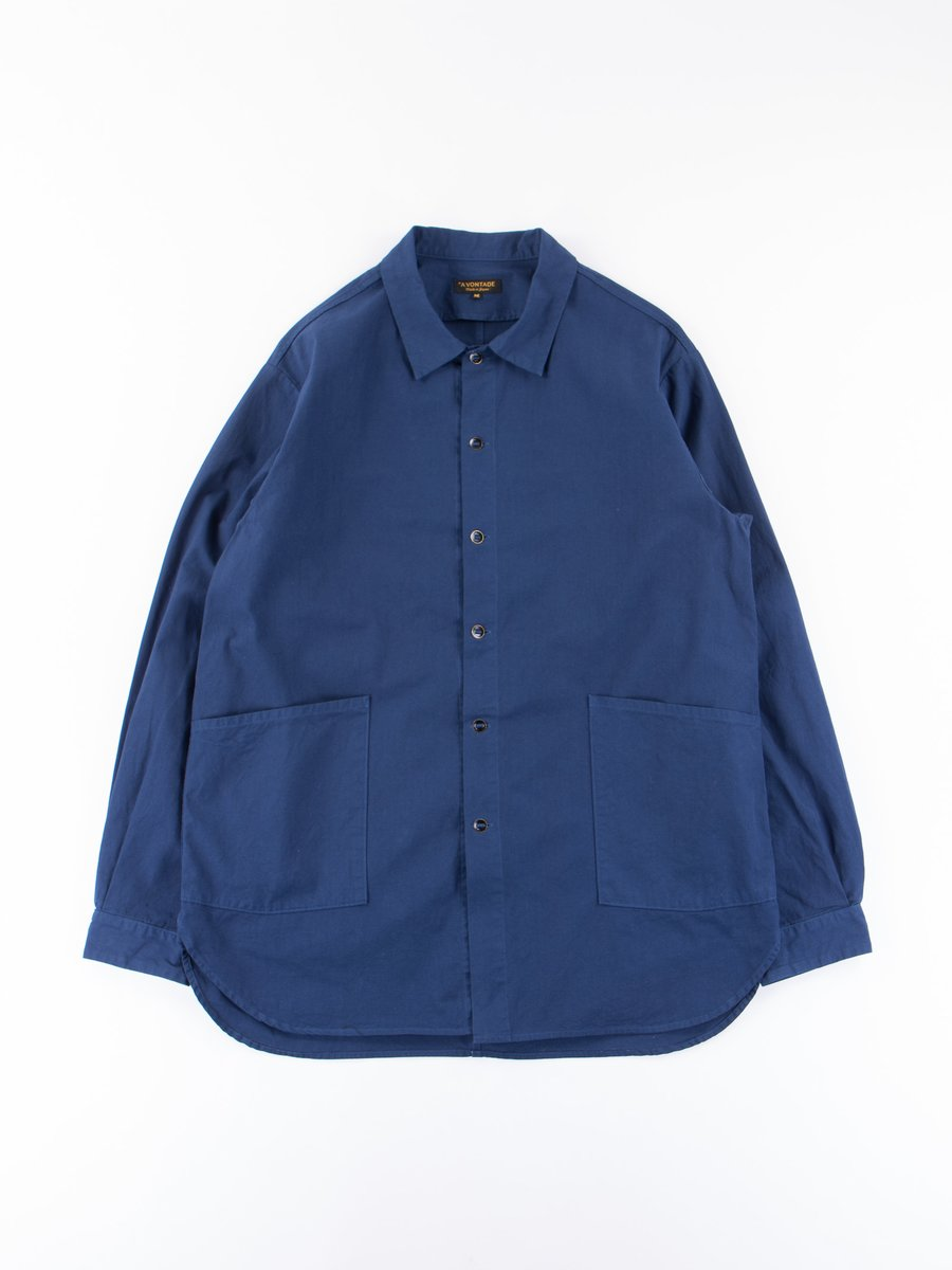 Navy Blue Gardener Shirt Jacket