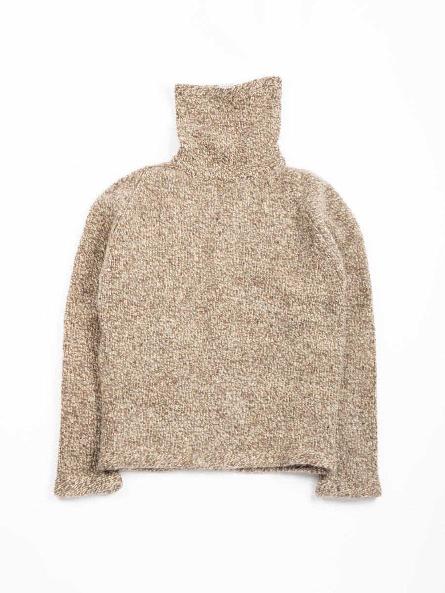 TYPE 737 PURL EDGE ASTRONAUT NECK PULLOVER PLANE DONEGAL WOOL