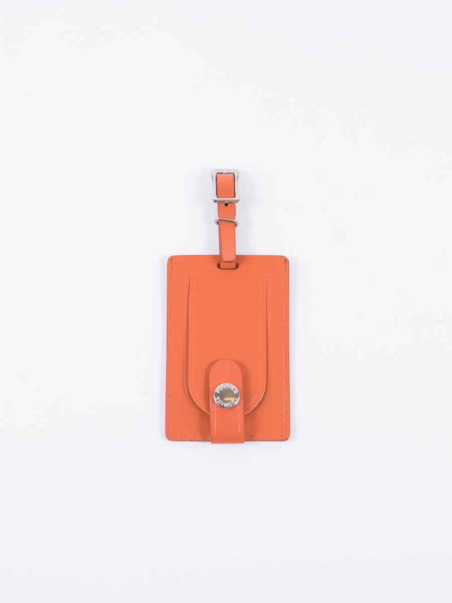 Orange Leather Shop Original Luggage Tag