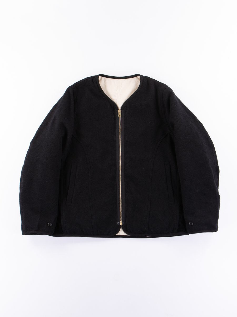 Black Wawona Down Nep Tweed Jacket