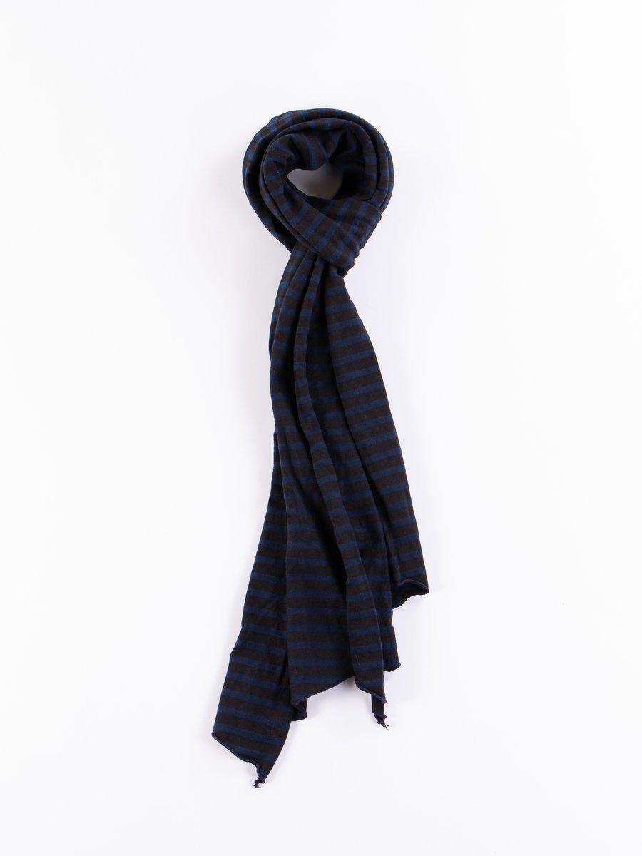 Black/Navy PC Stripe Jersey Long Scarf