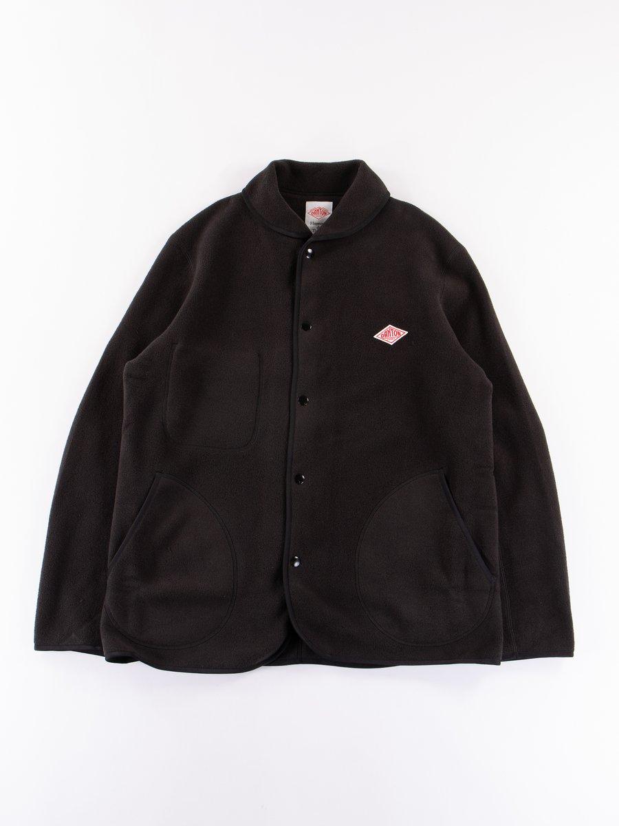 Black Fleece Shawl Collar Jacket