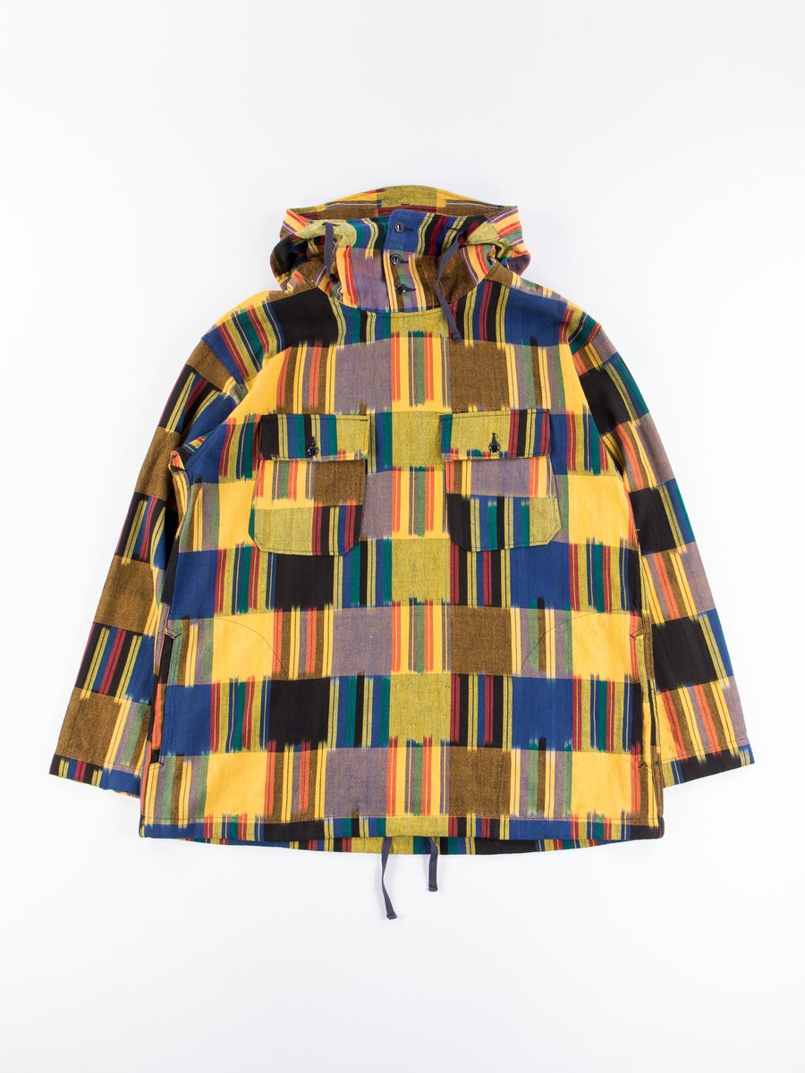 Multi Color Cotton Ikat Cagoule Shirt