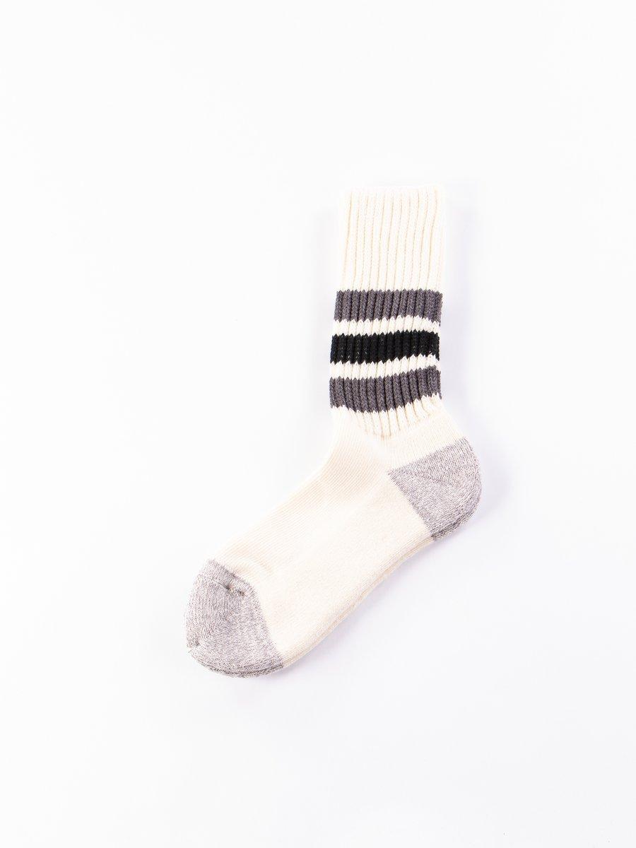 Dark Grey/Black Coarse Ribbed Oldschool Socks