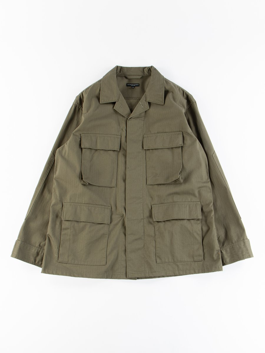 Olive Cotton Herringbone BDU Jacket