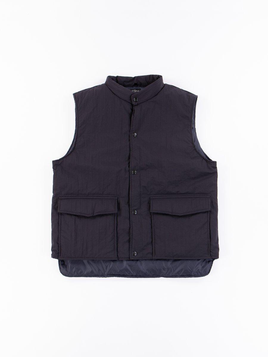 Black Water Repellant Puff Nylon Vest