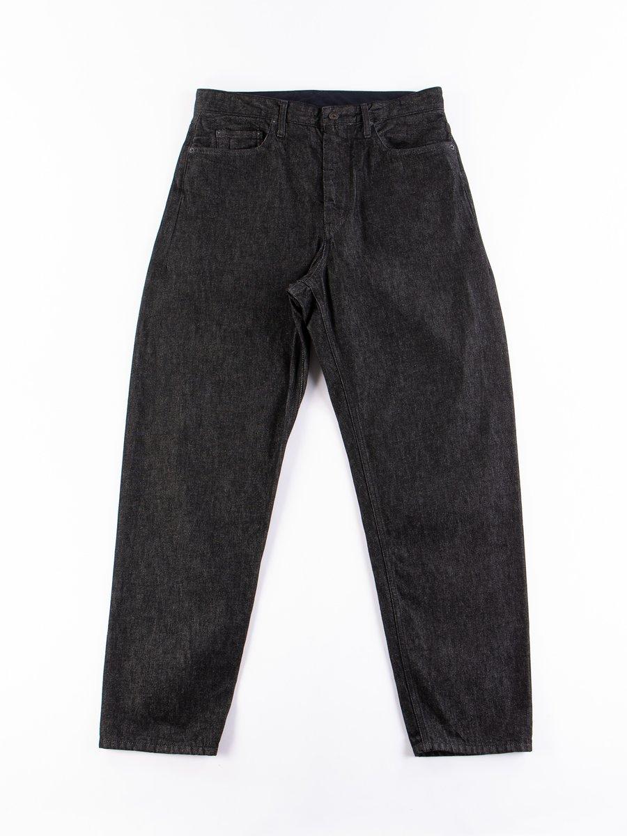 Black 12oz Cone Denim Wide Peg Jean