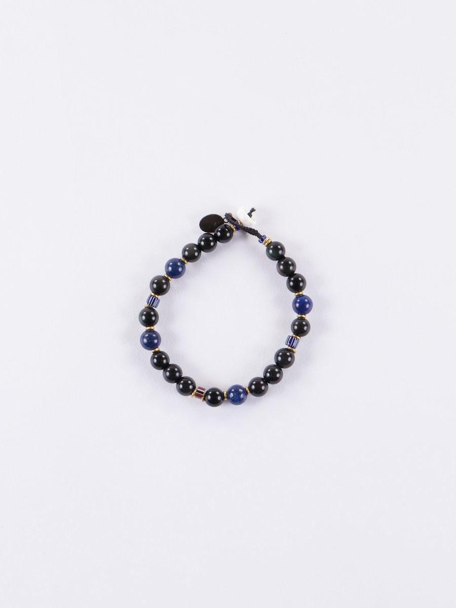 Rainbow Obsidian/Lapis 8mm Bracelet