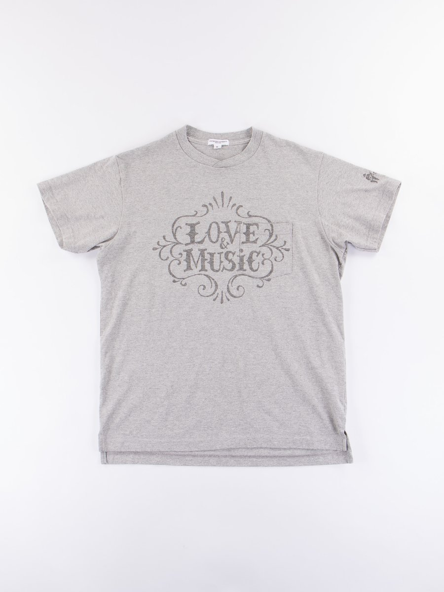 Grey Love & Music Printed T–Shirt