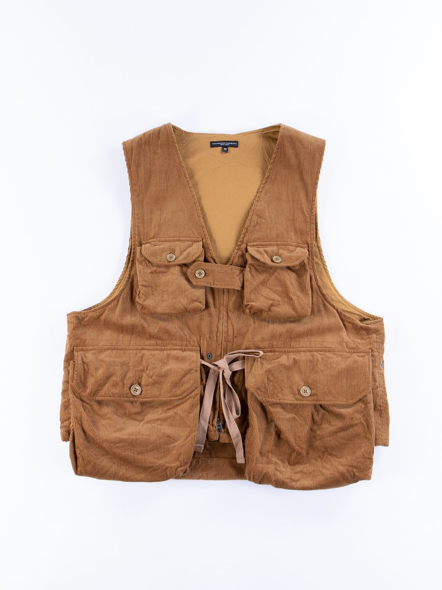 Chestnut Cotton 11W Corduroy Game Vest