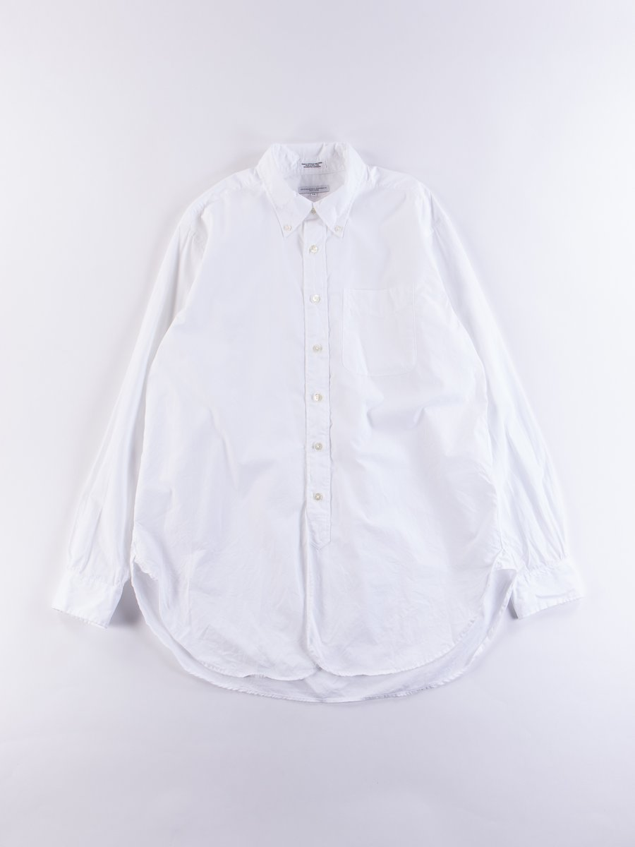 White 100's 2Ply Broadcloth 19th Century BD Shirt