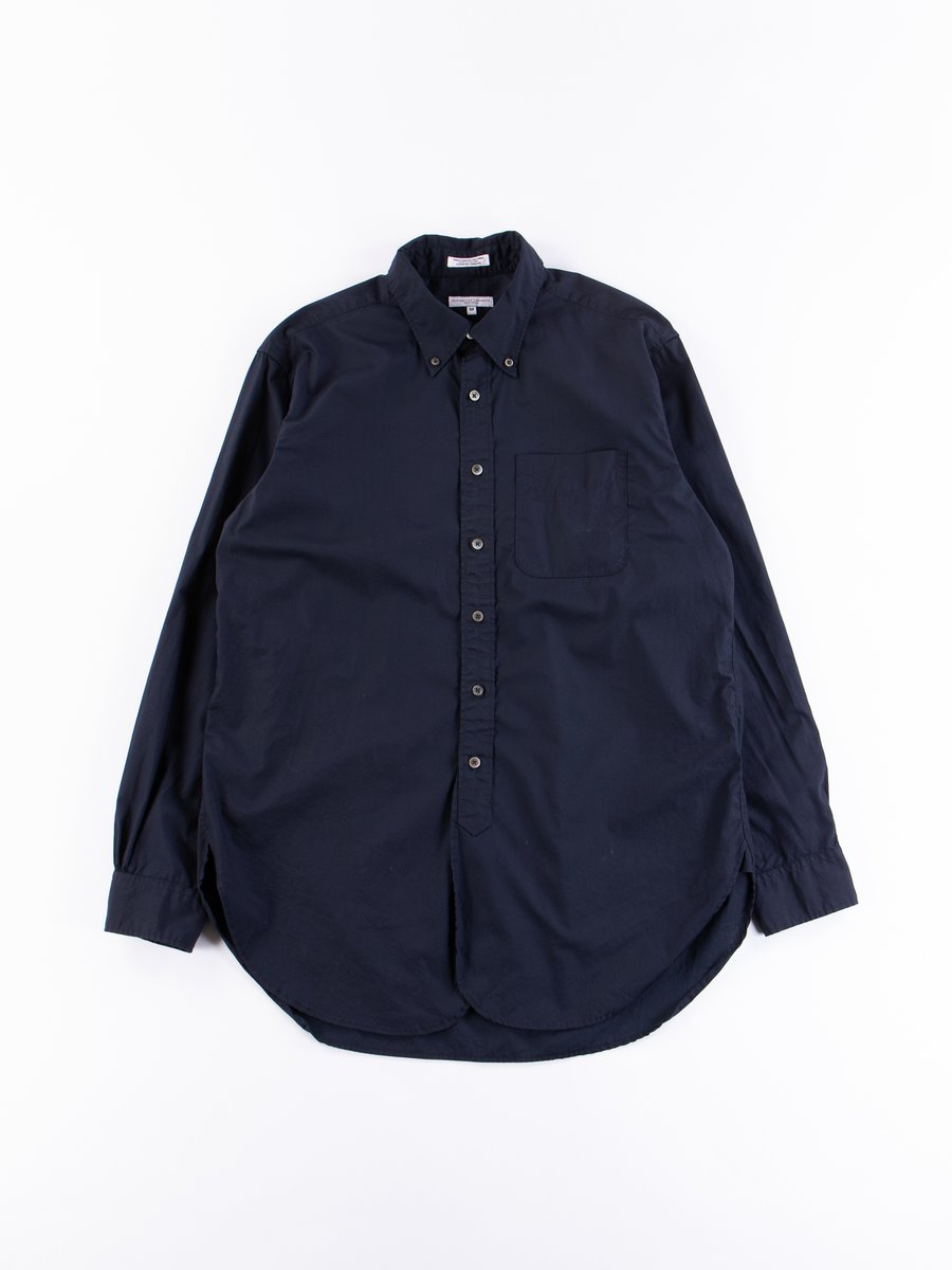 Dark Navy Superfine Poplin 19th Century BD Shirt