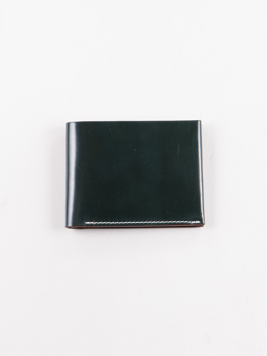 Green Horween Cordovan 4–4 Wallet