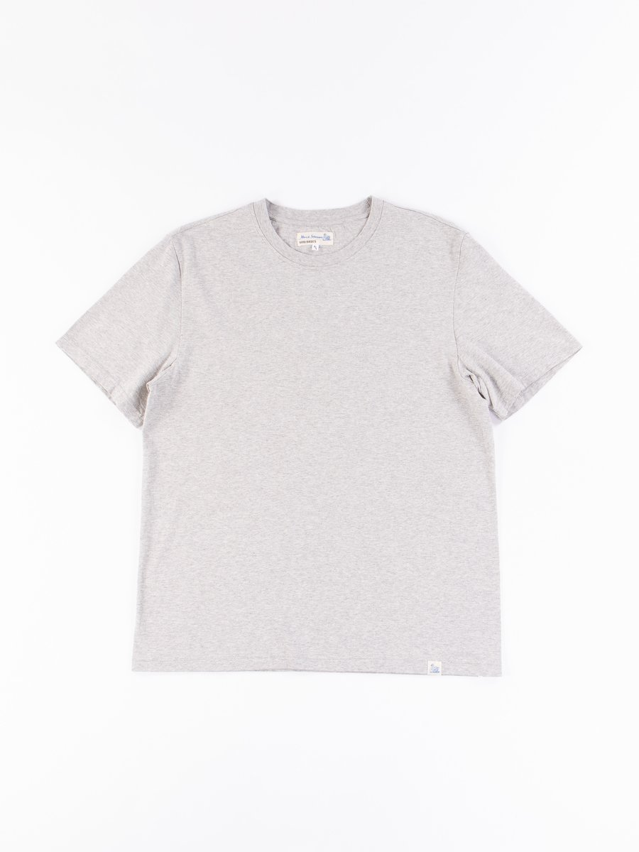 Grey Melange Good Basics CTOS01 Oversized Crew Neck Tee