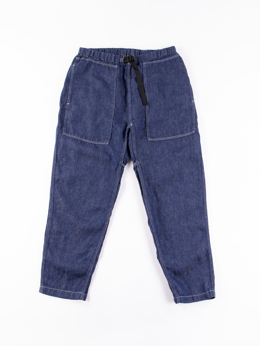 One Wash Linen Denim Climbing Pant