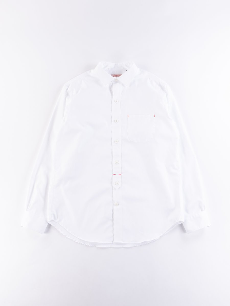 White End On End Standard Shirt