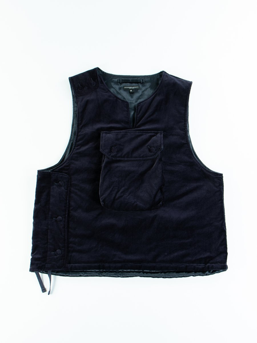 Dark Navy Cotton Velveteen Cover Vest