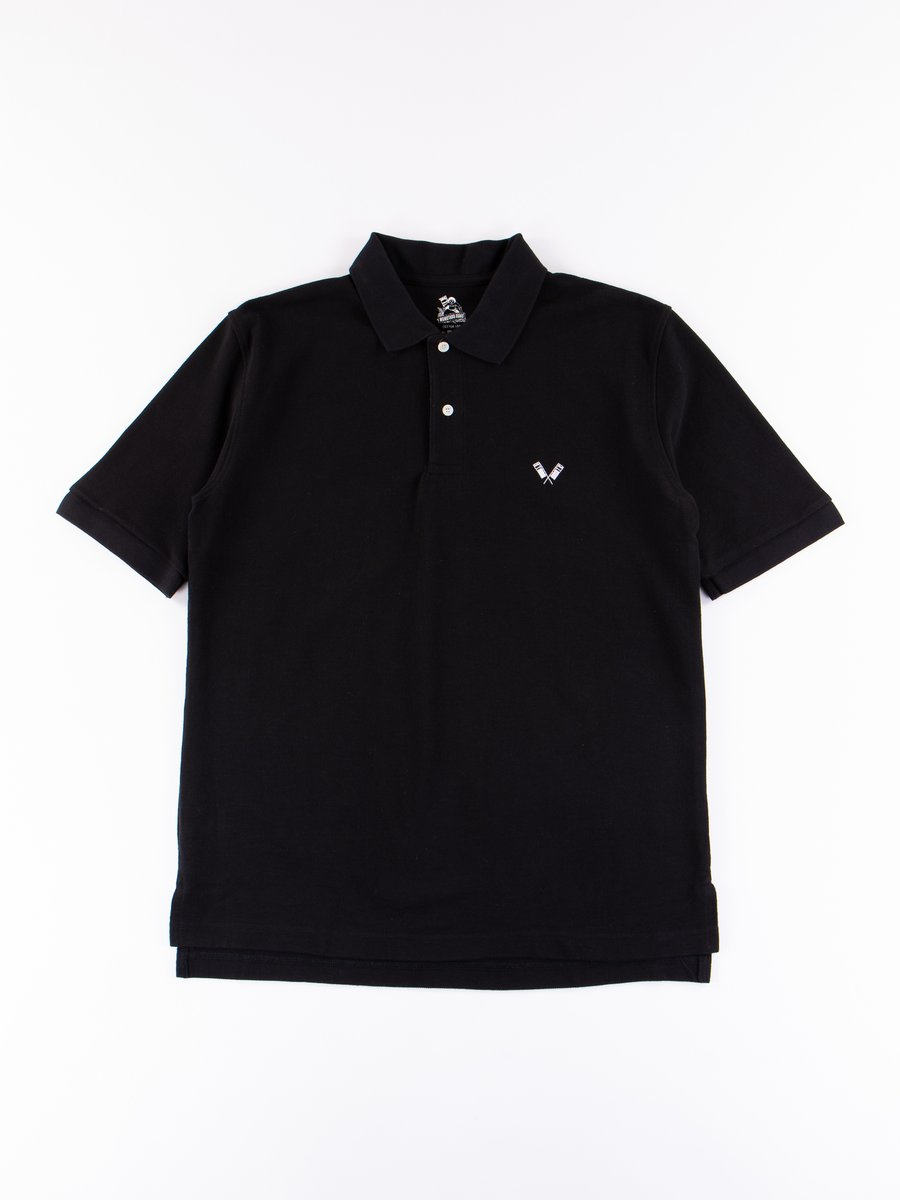 Black Zimbabwe Cotton Polo Shirt