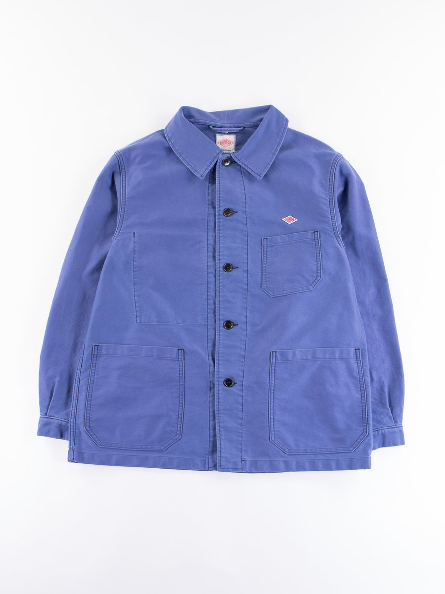 French Blue Moleskin Hard Wash Coverall