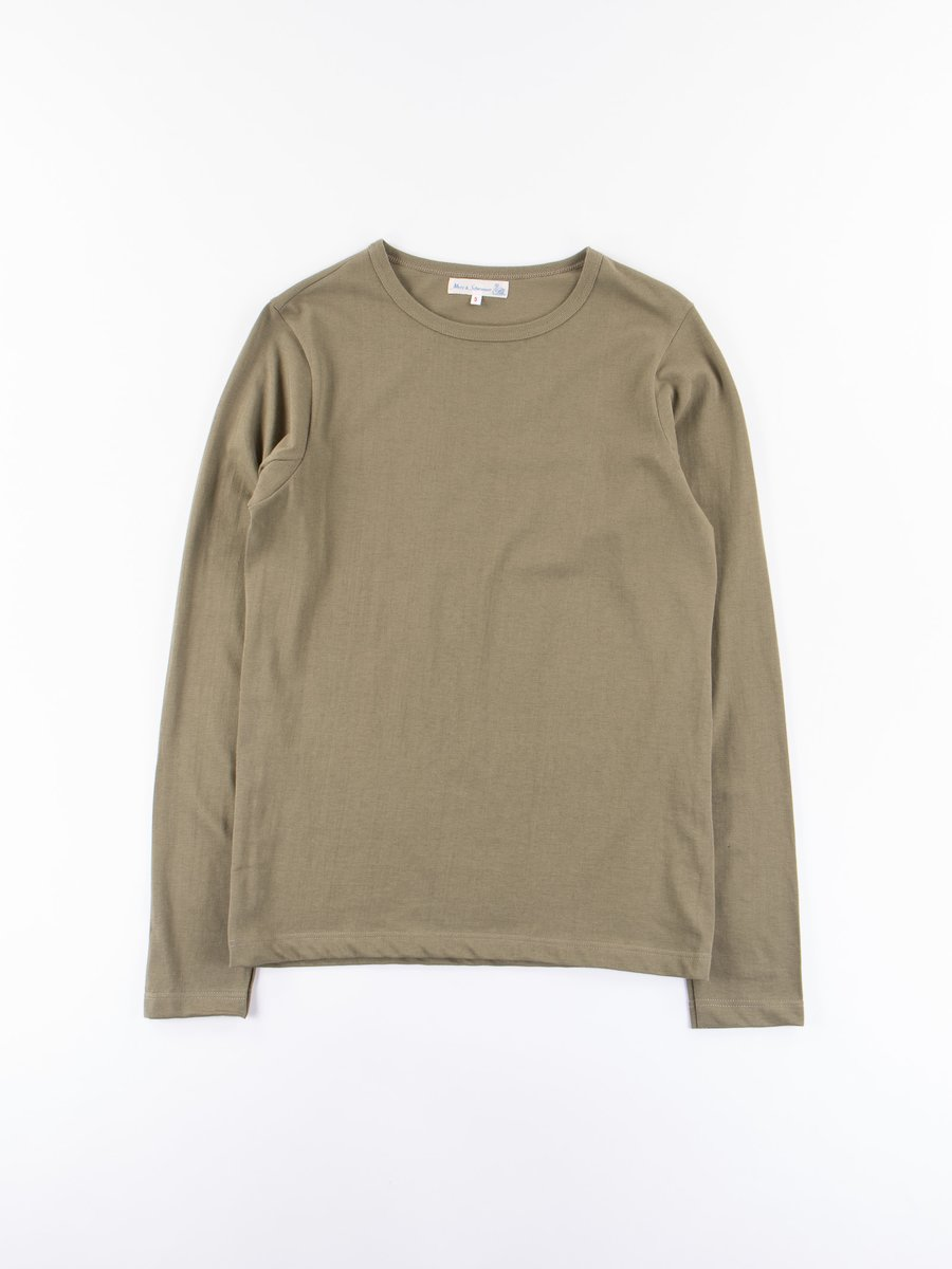 Army 1950s Organic Crew Neck Long Sleeve Tee