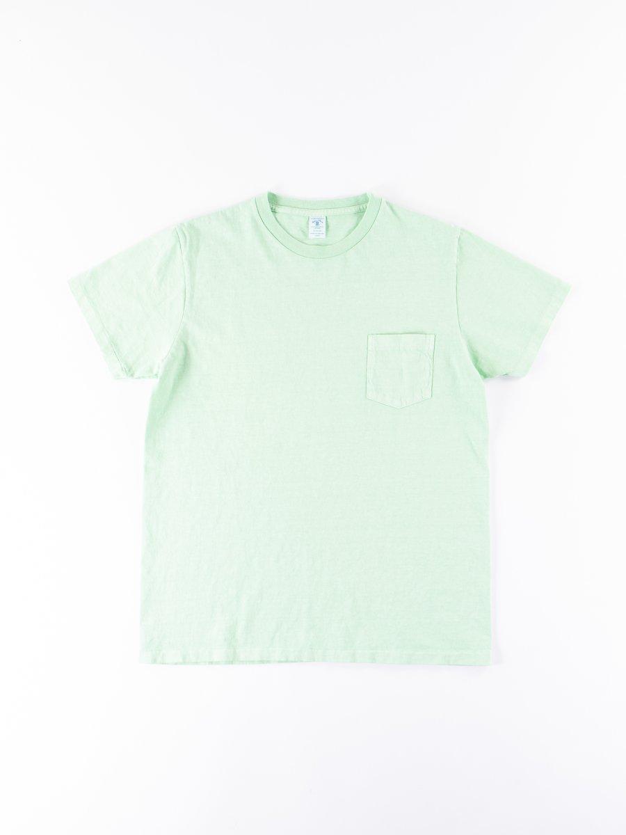 Lime Pigment Dye Pocket Tee