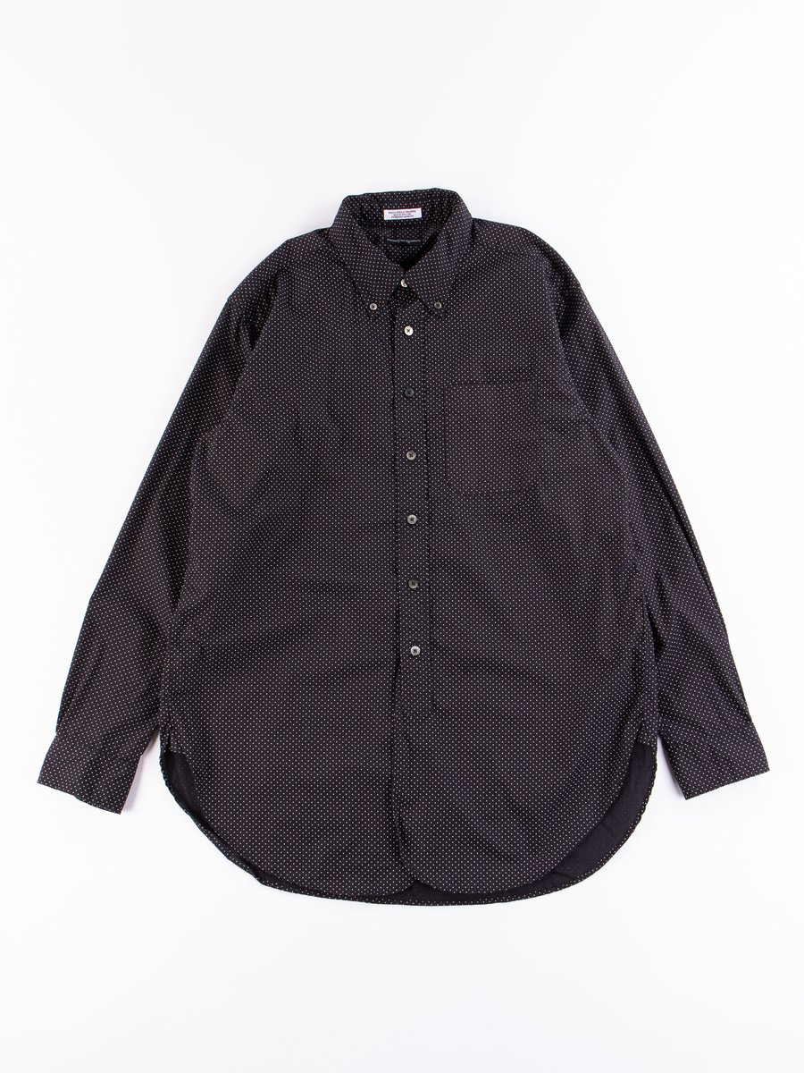 Black/White Cotton Micro Polka Dot 19th Century BD Shirt