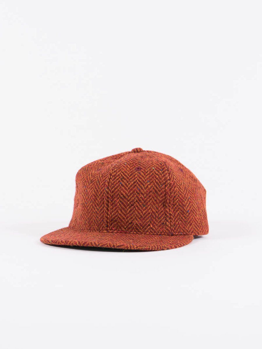 Rust HB Tweed NIer 6 Panel Ballcap