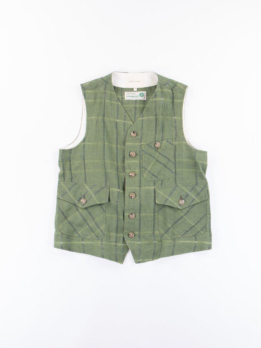Green Check 3 Pocket Waistcoat