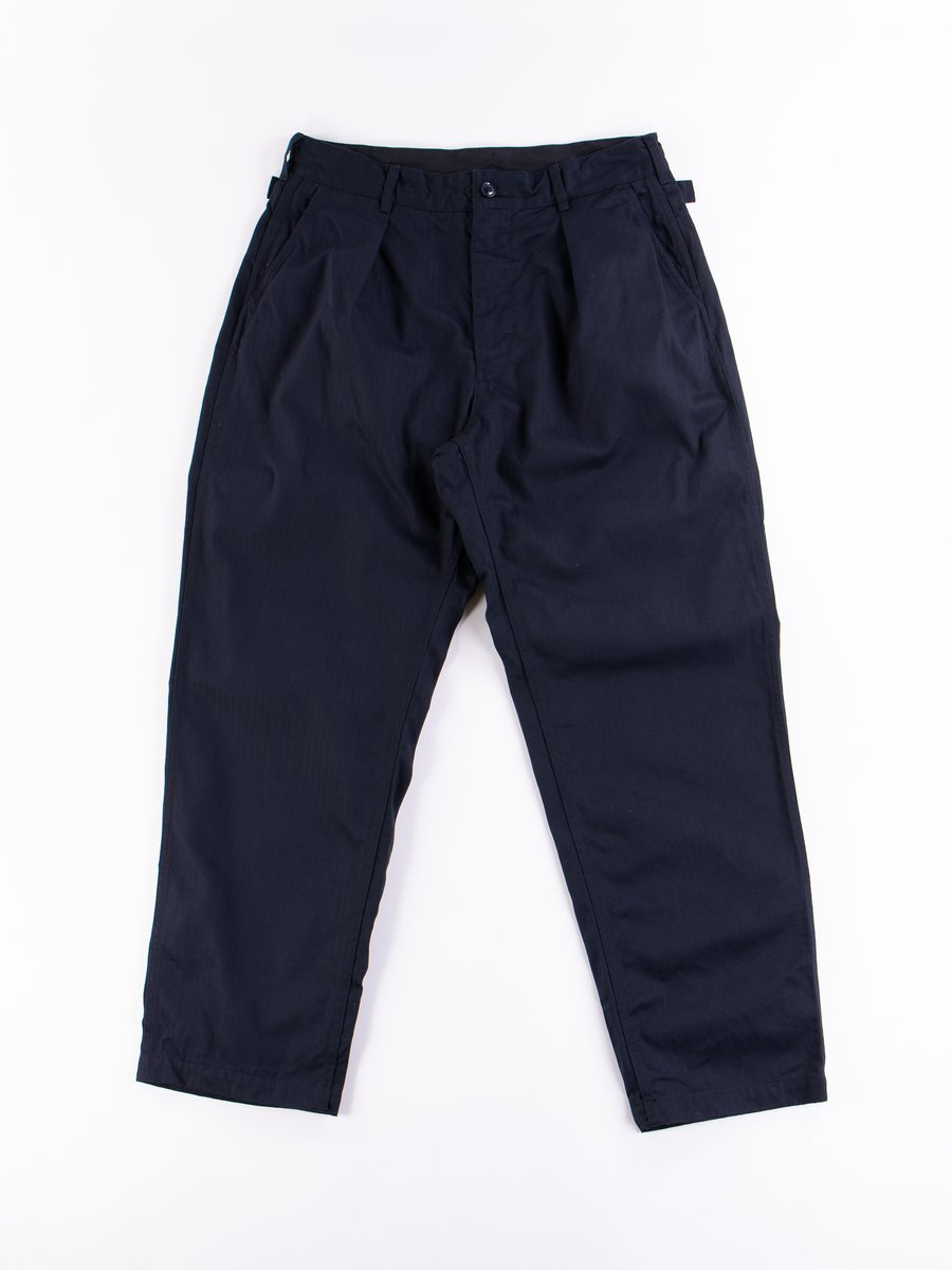 Dark Navy Cotton Herringbone Twill Ground Pant