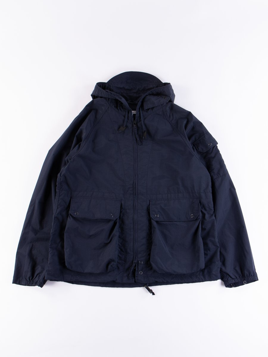 Navy Acrylic Coated Nylon Taffeta Atlantic Parka