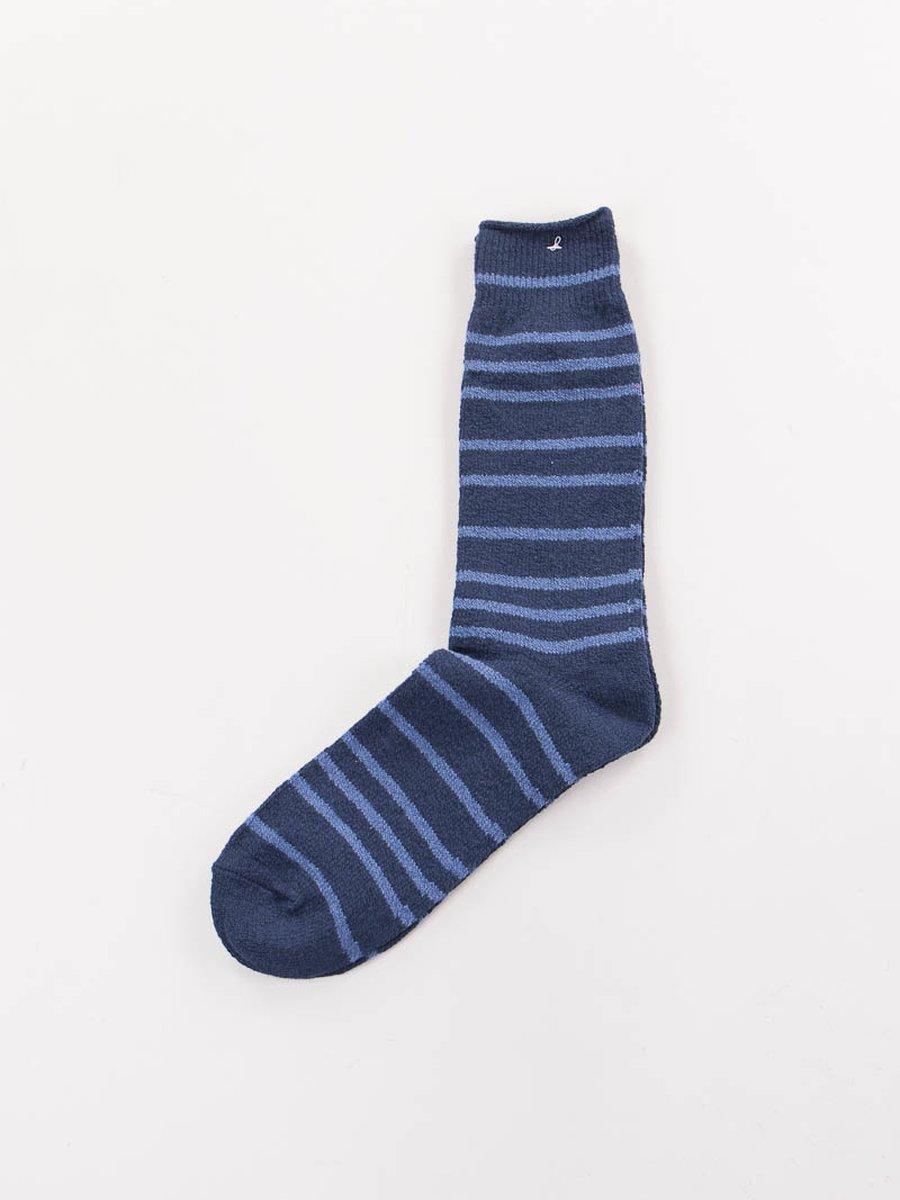 Navy Stripe Crew Socks