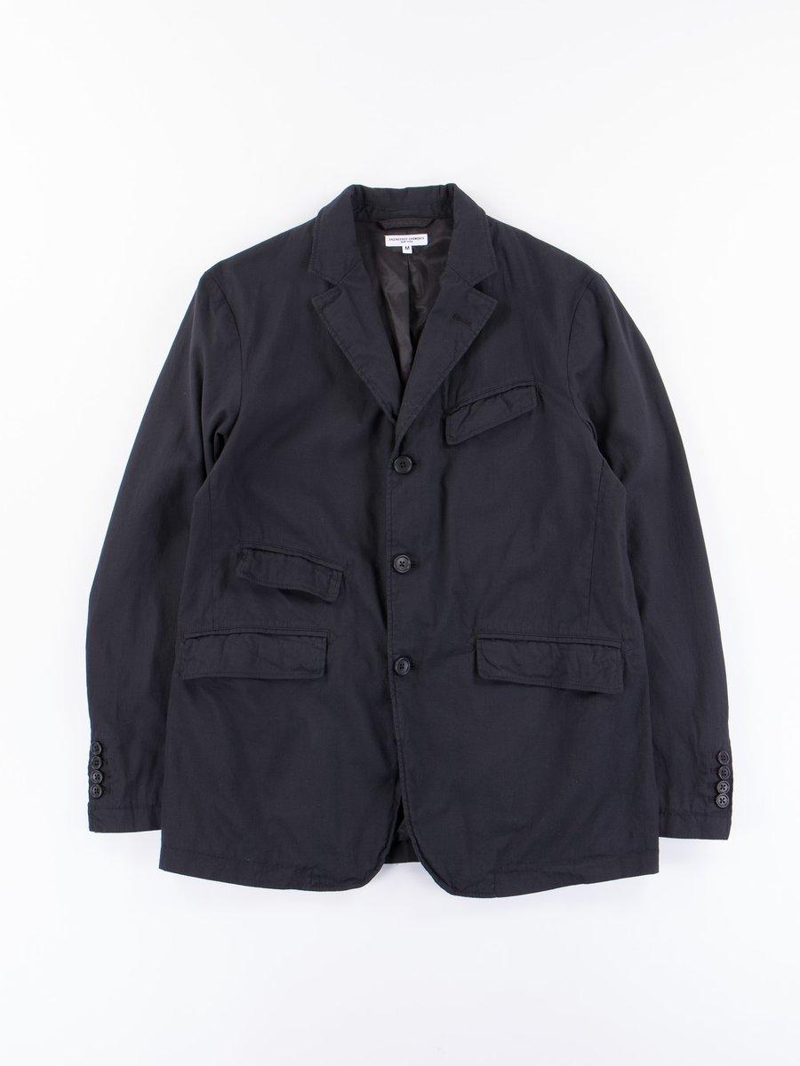 Black Cotton Cordlane Andover Jacket