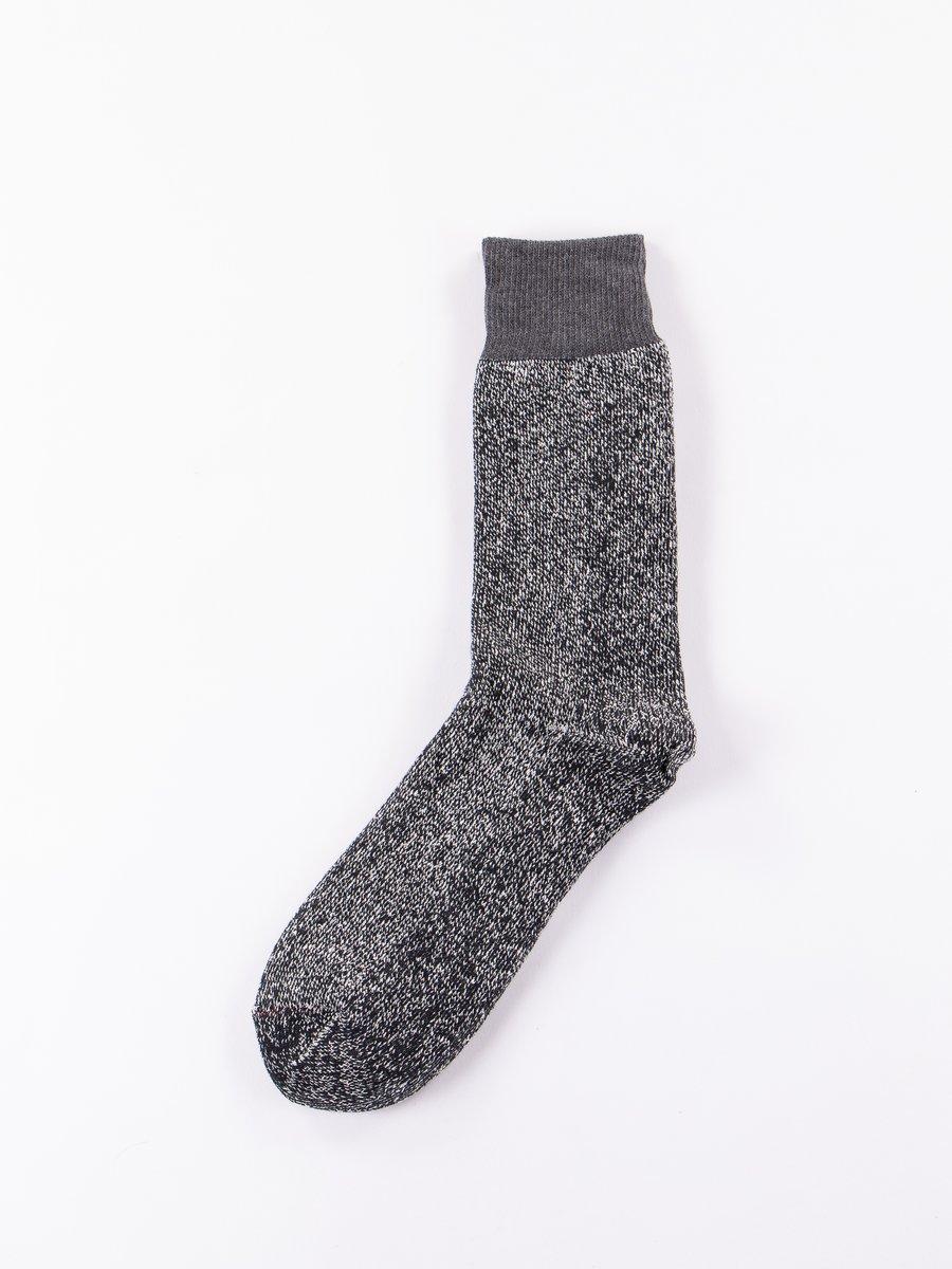 Dark Grey/Black Double Face Socks