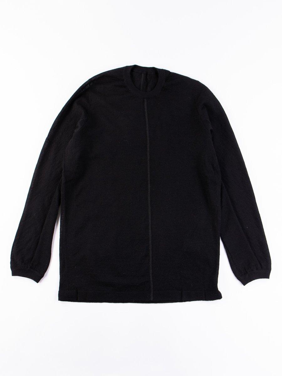 S23–AK Black Cashllama Long Sleeve Sweater